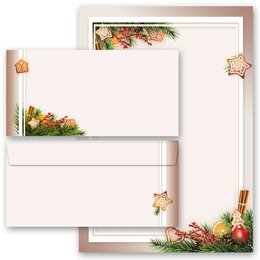 20-pc. Complete Motif Letter Paper-Set GINGERBREAD TIME