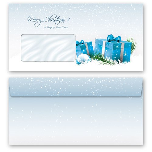 Motif envelopes! BLUE CHRISTMAS PRESENTS Christmas envelopes