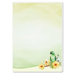 Notepads GREEN PARROT | DIN A6 Format |  2 Blocks