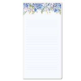 Notepads BLUE HYDRANGEAS | DIN LONG Format