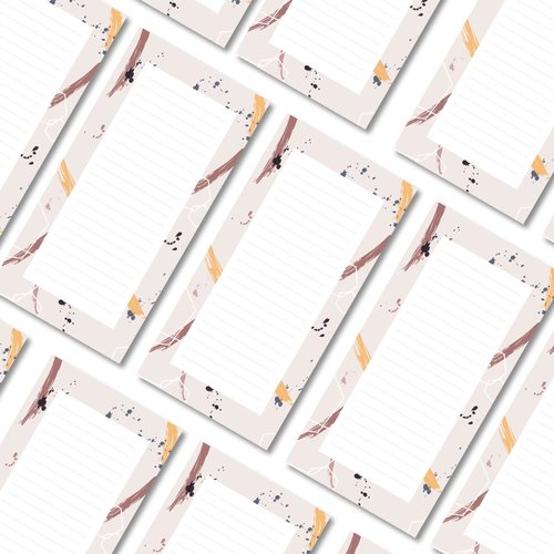 Notepads ABSTRACT | DIN LONG Format