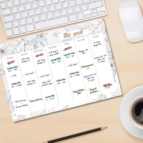 Weekly planner pad BLOOM | DIN A4 Format