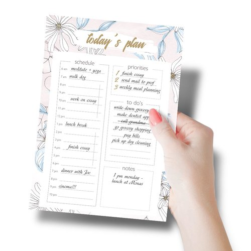 Notepads Daily Planner Pad BLOOM | DIN A5 Format