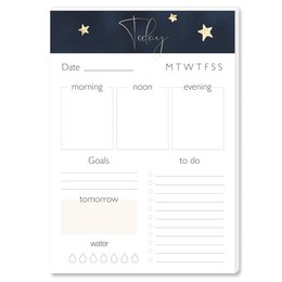 Notepads Daily Planner Pad STARS | DIN A5 Format 2 Blocks