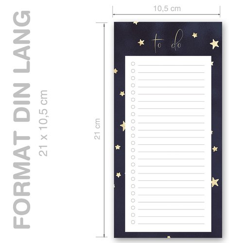 Notepads STARS | DIN LONG Format