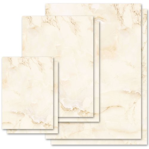 Motif Letter Paper! MARBLE BEIGE Marble paper