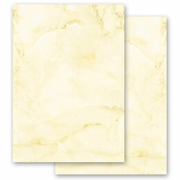Motif Letter Paper! MARBLE LIGHT YELLOW 20 sheets DIN A4