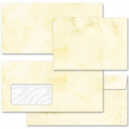 Motif envelopes! MARBLE LIGHT YELLOW