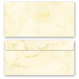 10 patterned envelopes MARBLE LIGHT YELLOW in standard...