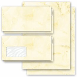 Motif Letter Paper-Sets MARBLE LIGHT YELLOW Marble paper