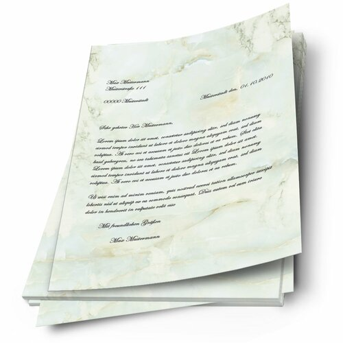 Motif Letter Paper! MARBLE LIGHT GREEN Marble paper