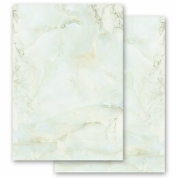 Motif Letter Paper! MARBLE LIGHT GREEN 20 sheets DIN A4