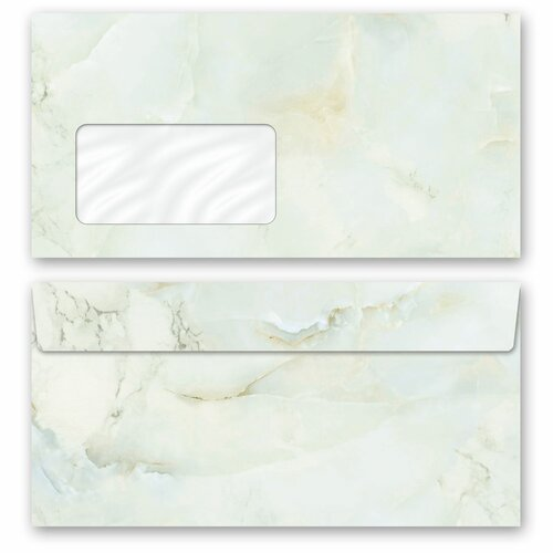 Motif envelopes! MARBLE LIGHT GREEN Marble motif