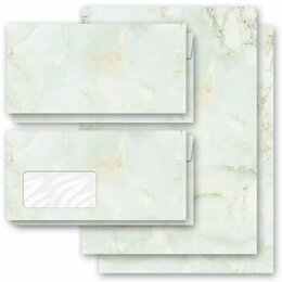 Motif Letter Paper-Sets MARBLE LIGHT GREEN Marble paper