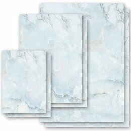 Motif Letter Paper! MARBLE LIGHT BLUE