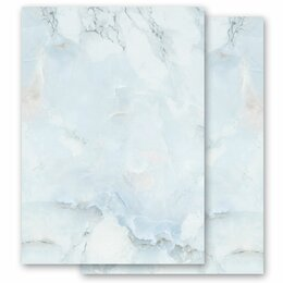 Motif Letter Paper! MARBLE LIGHT BLUE 100 sheets DIN A6