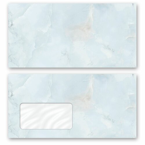 Motif envelopes! MARBLE LIGHT BLUE Marble motif