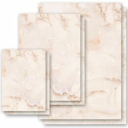 Motif Letter Paper! MARBLE TERRACOTTA Marble paper