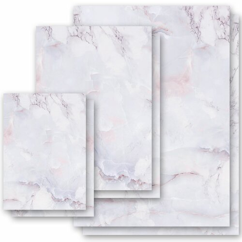 Motif Letter Paper! MARBLE LILAC Marble paper