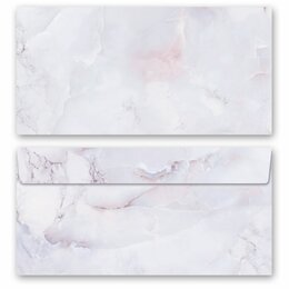 10 patterned envelopes MARBLE LILAC in standard DIN long...