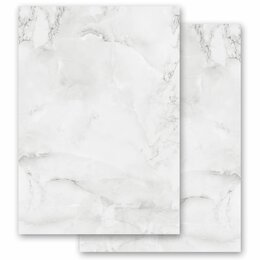 Motif Letter Paper! MARBLE LIGHT GREY 20 sheets DIN A4