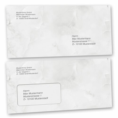 Motif envelopes! MARBLE LIGHT GREY Marble paper