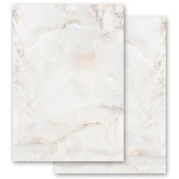 Motif Letter Paper! MARBLE NATURAL 20 sheets DIN A4