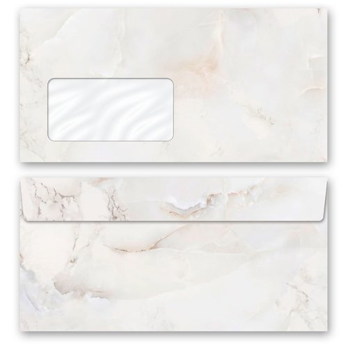 Motif envelopes! MARBLE NATURAL Marble paper