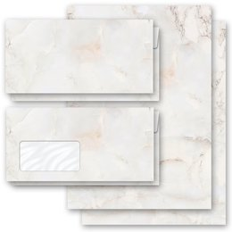 Motif Letter Paper-Sets MARBLE NATURAL Marble paper