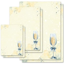Motif Letter Paper! CHAMPAGNE RECEPTION Invitation