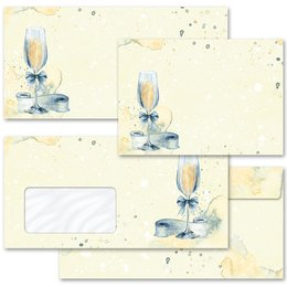 Motif envelopes! CHAMPAGNE RECEPTION Invitation
