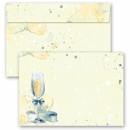 25 patterned envelopes CHAMPAGNE RECEPTION in C6 format...