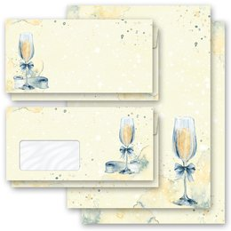 Motif Letter Paper-Sets CHAMPAGNE RECEPTION Invitation