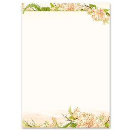 Motif Letter Paper! PEONIES 250 sheets DIN A5