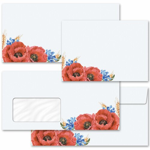 Motif envelopes! FIELD FLOWERS