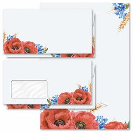 Motif Letter Paper-Sets FIELD FLOWERS