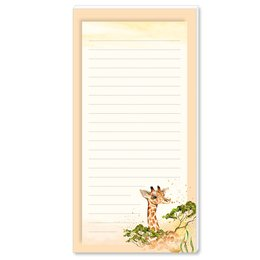 Notepads GIRAFFE | DIN LONG Format