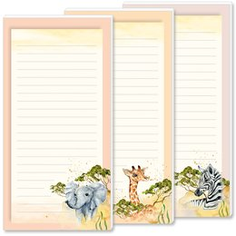 Notepads SAVANNAH | DIN LONG Format | 3 Blocks