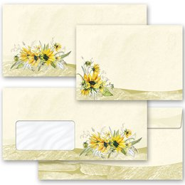 Motif envelopes! YELLOW SUNFLOWERS