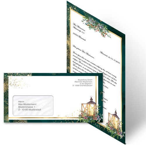 Briefpapier Set ADVENTSNACHT - 200-tlg. DL (mit Fenster)