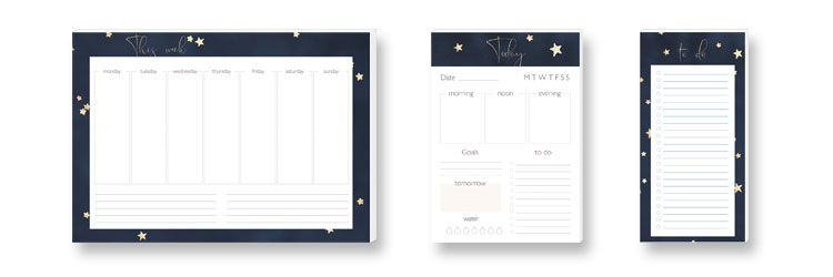 Weekly Planner, Daily Planner and to do-list STARS